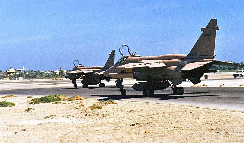 """8736 - Британские самолеты Jaguar GR-1A в операции """"Буря в пустыне"""" 1991 г."""
