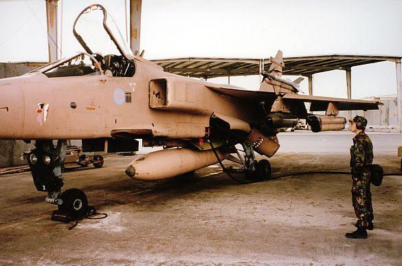 """8783 - Британские самолеты Jaguar GR-1A в операции """"Буря в пустыне"""" 1991 г."""