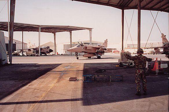 """8786 - Британские самолеты Jaguar GR-1A в операции """"Буря в пустыне"""" 1991 г."""