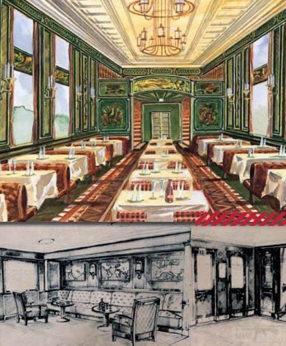 9030 - Вагон-ресторан и вестибюли спальных вагонов сверхширококолейных железнодорожных поездов